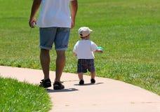 Père et fils photographie stock