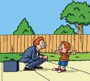 Père et fils. Illustration Stock