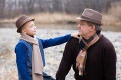 Père et fils. Images stock
