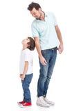 Père et fils Images stock