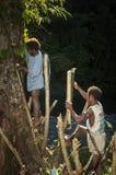 Père et fils Agta Photos libres de droits