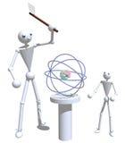Père et fils dédoublant l'atome Illustration Stock