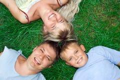 Père et fils de mère de famille Images stock