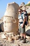 Père et fils en vacances en Turquie Images libres de droits