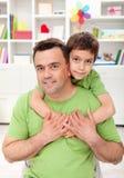 Père et fils ensemble Photos stock