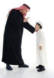 Père et fils musulmans arabes Photos libres de droits