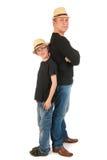 Père et fils robustes images libres de droits
