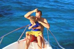 Père et garçon images libres de droits