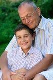 Père et gosse heureux Photos stock