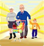 Père et grand-mère Image stock