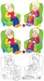 Père et grand-mère Photos libres de droits