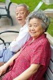 Père et grand-mère heureux Images libres de droits