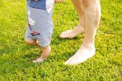 Père et jeune fils Photo stock