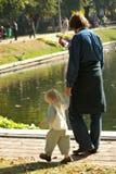 Père et le petit descendant Photos libres de droits