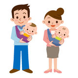 Père et mère et bébé Photographie stock