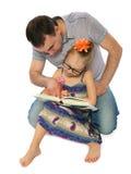 Père et mes leçons Photos stock
