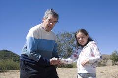 Père et petite-fille Images libres de droits