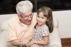 Père et petite-fille Image stock