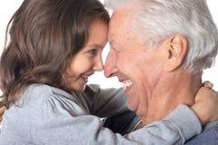 Père et petite-fille heureux Photographie stock libre de droits