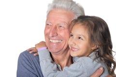 Père et petite-fille heureux Image stock