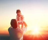 Père et sa chéri photographie stock libre de droits
