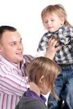 Père et ses enfants Images libres de droits