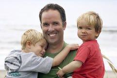 Père et ses fils Photos libres de droits