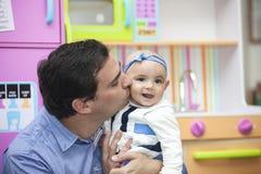 Père et son bébé Photos libres de droits