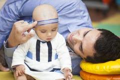 Père et son bébé Photo libre de droits