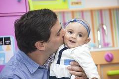 Père et son bébé Photos stock