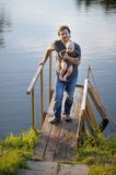 Père et son fils Photos stock