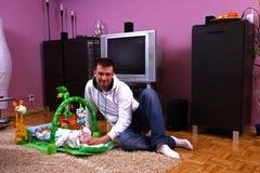 Père et son fils Photographie stock