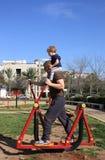 Père, fils et sport Photo stock