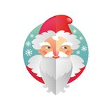 Père Frost et Santa Claus de nouvelle année et de Noël de vacances Photos libres de droits