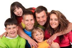 Père heureux avec des enfants Photo stock