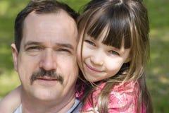 Père heureux avec le dother Photos libres de droits