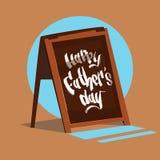 Père heureux Day Family Holiday, carte de voeux de concept de célébration de signe de barre illustration stock