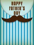 Père heureux Day Mustache Love Photos libres de droits
