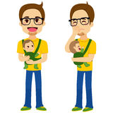 Père Holding Baby illustration de vecteur