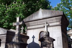 The Père-Lachaise cemetery in Paris royalty free stock images
