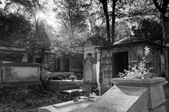 The Père-Lachaise public cemetery of Paris royalty free stock photography