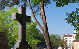 The Père-Lachaise cemetery in Paris stock photography