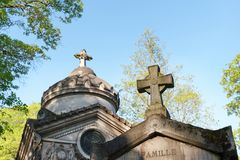 The Père-Lachaise cemetery in Paris royalty free stock photo