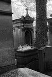 the Père-Lachaise public cemetery of Paris stock image