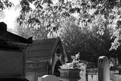 The Père-Lachaise public cemetery of Paris stock photo