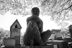 The Père-Lachaise public cemetery of Paris royalty free stock image