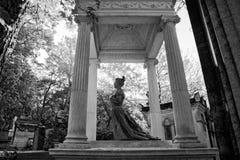 The Père-Lachaise public cemetery of Paris royalty free stock photos