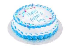 père s heureux de jour de gâteau Images libres de droits