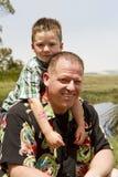 Père Son Bonding Photo libre de droits