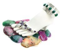 Pé com pedras preciosas Imagem de Stock Royalty Free